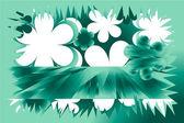 весенний зеленый фон — Стоковое фото
