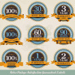 Retro vintage satisfaction guaranteed labels — Vector de stock #8055216