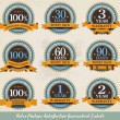 Retro vintage satisfaction guaranteed labels — Vetorial Stock #8055216
