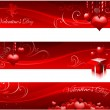 Valentine's day banners — Stock Vector
