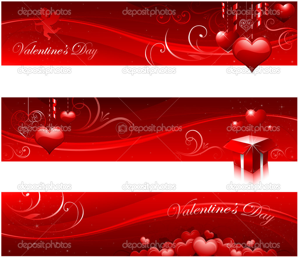 Red valentines greating card design  Vettoriali Stock  #8293933
