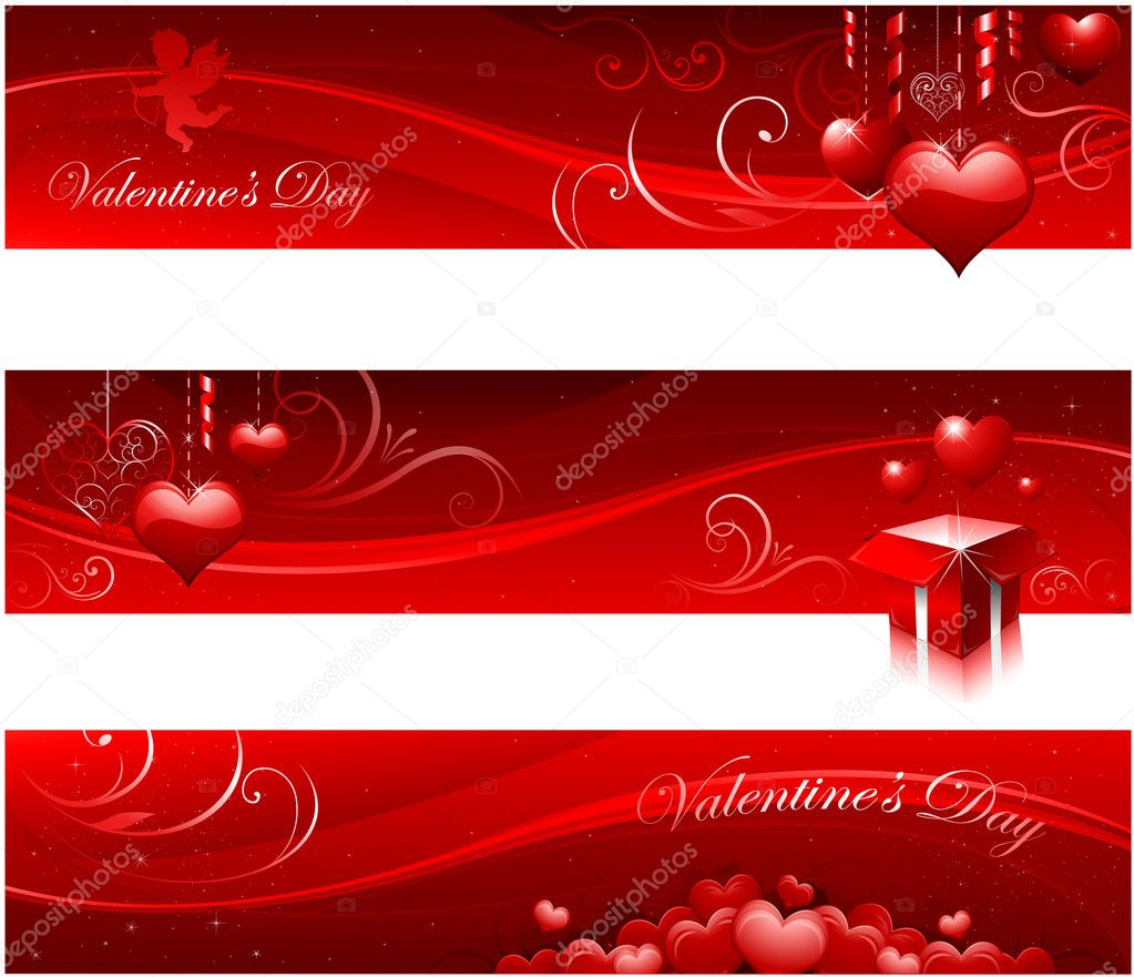Red valentines greating card design  Imagens vectoriais em stock #8293933