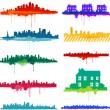 Paint splat city design — Stock Vector