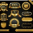 Vector 100% satisfaction guaranteed label — Vector de stock