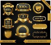 Vector rótulo 100% de satisfação garantida — Vetorial Stock