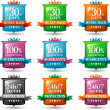 Web tevredenheid garantie badges — Stockvector  #8813761