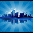 Cityscapes silhouettes background — Stock Vector #9010346