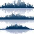 Cityscapes silhouettes background — Stock Vector #9010583