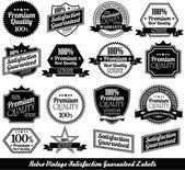Premium quality Labels with retro design — Stock Vector