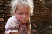 Sad little girl — Stock Photo