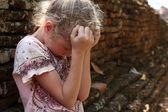 Smutný holčička — Stock fotografie