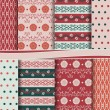 Vector set of scrapbook paper -  