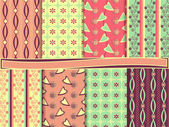 Vector abstracto juego de papel scrapbook — Vector de stock