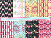 Conjunto abstracto floral vector de papel scrapbook — Vector de stock