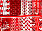 Vector set of scrapbook paper for Valentine's Day — Wektor stockowy