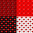 Vector set of scrapbook paper for Valentine's Day — Stock Vector #8337736