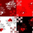 Stock Vector: Vector set of scrapbook paper for Valentine's Day