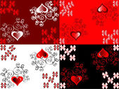 Vector set of scrapbook paper for Valentine's Day — Stock Vector