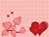 Vector illustration Valentine's Day — Stock Vector