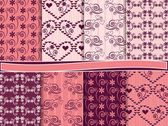 Vector set of scrapbook paper for Valentine's Day — Vector de stock