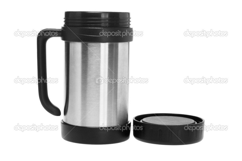 Open Thermos Mug on White Background — Stock Photo #10008114
