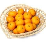 Basket Of Mandarin Oranges — Stock Photo
