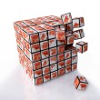 Cubes with Flower Pattern — Stock Photo