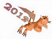Roliga draken att föra ett nytt år — Stockfoto