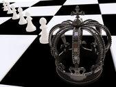 Schach-Strategie in 3d — Stockfoto