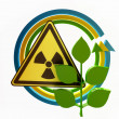 "Ecology Concept  "" Nuclear Hazard"" — Stock Photo"