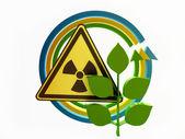 "Ecology Concept "" Nuclear Hazard"" — Stock Photo"