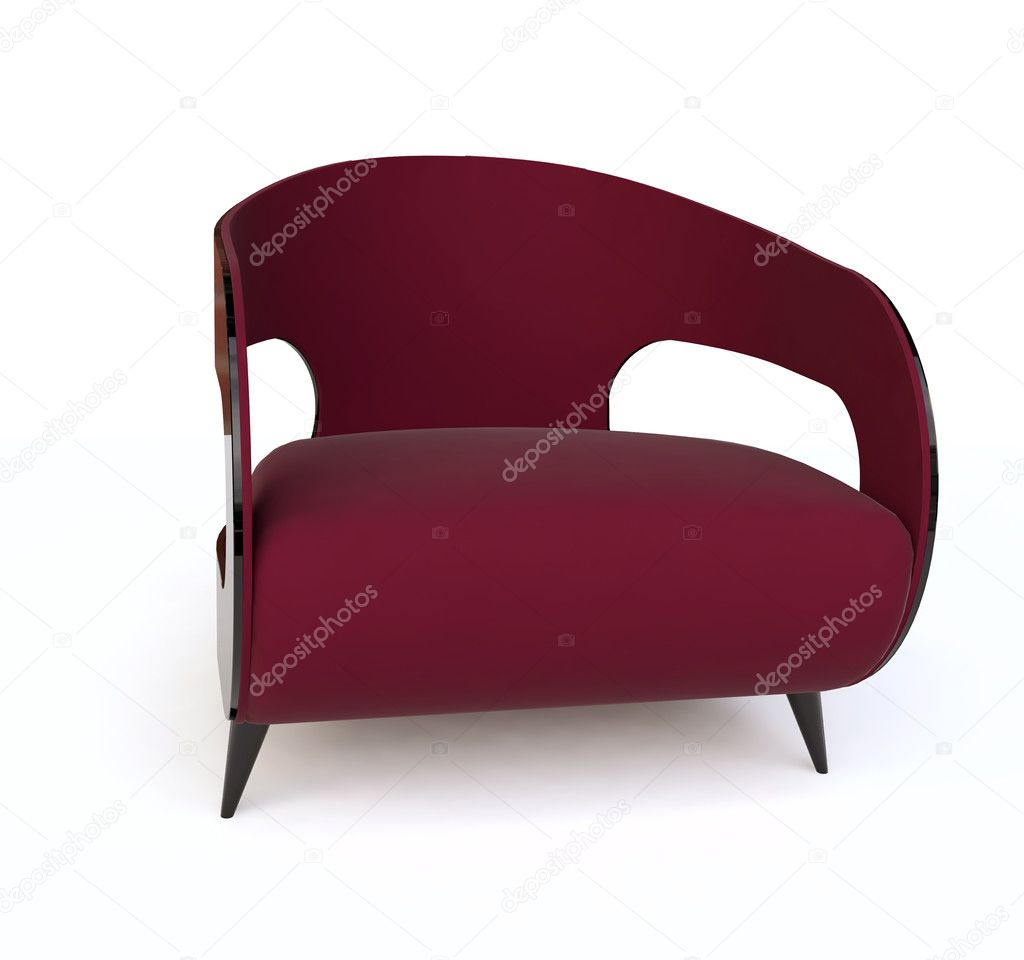 Modern  Red Armchair — Stock Photo #9405634