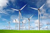 Větrné turbíny — Stock fotografie