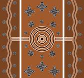 Illu. based on aboriginal style of dot painting depicting worldw — Stock Photo