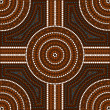 Illustration based on aboriginal style of dot painting depicti — Stock Photo #10648621