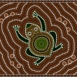 Illustration based on aboriginal style of dot painting depicting — Stock Photo #10648649