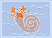 Иллюстрация, основанный на аборигенов стиле точка картина, изображающая отшельник — Cтоковый вектор