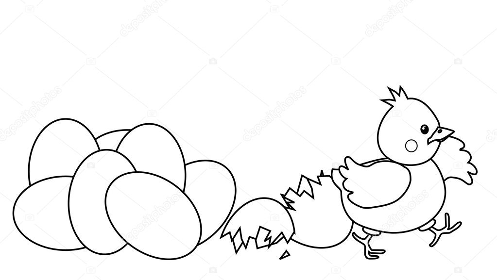 chicken and egg coloring pages | Chicken Egg Coloring Page Sketch Coloring Page