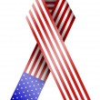 Vector 4th of july ribbon isolated on white. eps10 — Image vectorielle