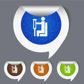 Vector places for disabled stickers set. Eps10 — 图库矢量图片