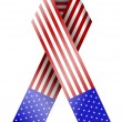 Vector 4th of july ribbon isolated on white. eps 10 — Stock Vector #10633836