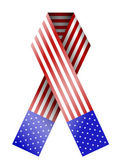 Vector 4th of july ribbon isolated on white. eps 10 — Stock Vector