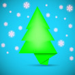 Speech bubble in the form of Christmas tree. creative vector illustration — Stock Vector
