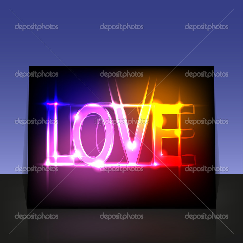 Vector Love poster for your design — Stock Vector #8025209