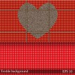 Textile background with place for your text. Vector background. Best choice — Stok Vektör
