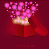 Love gift for valentine — Stock Vector