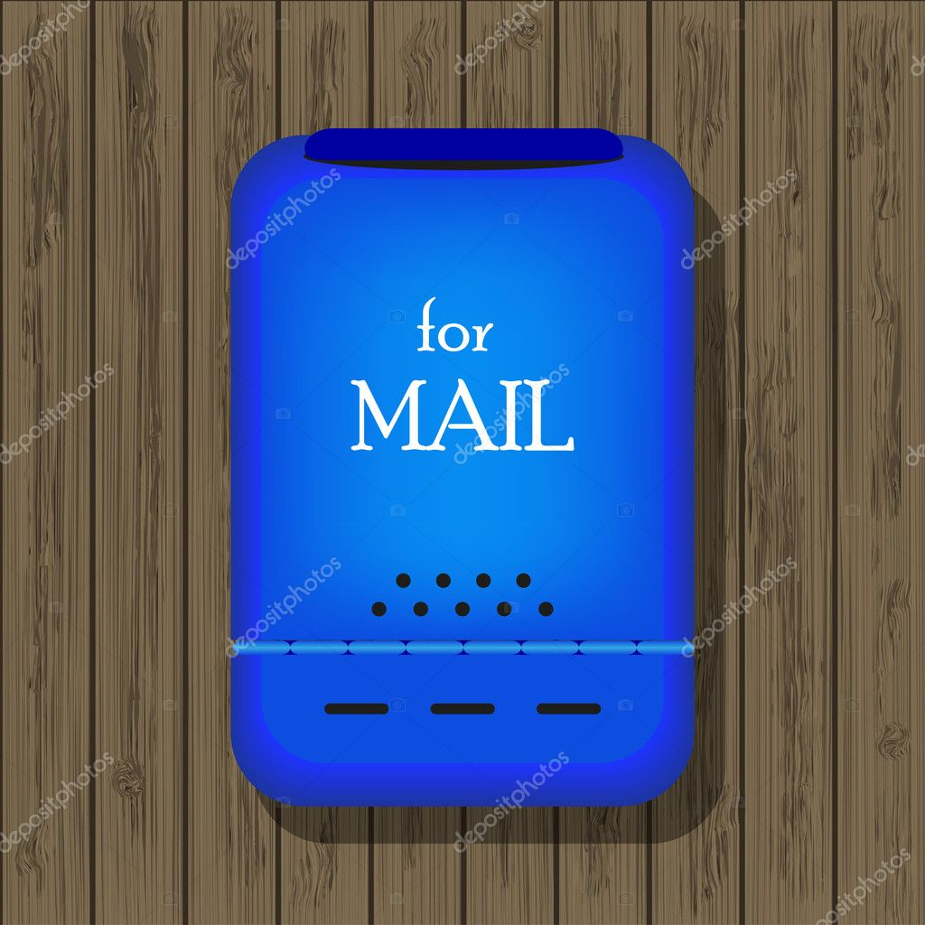 Mail box on wooden board for your design. Vector illustration. Best choice — Stock Vector #8202750