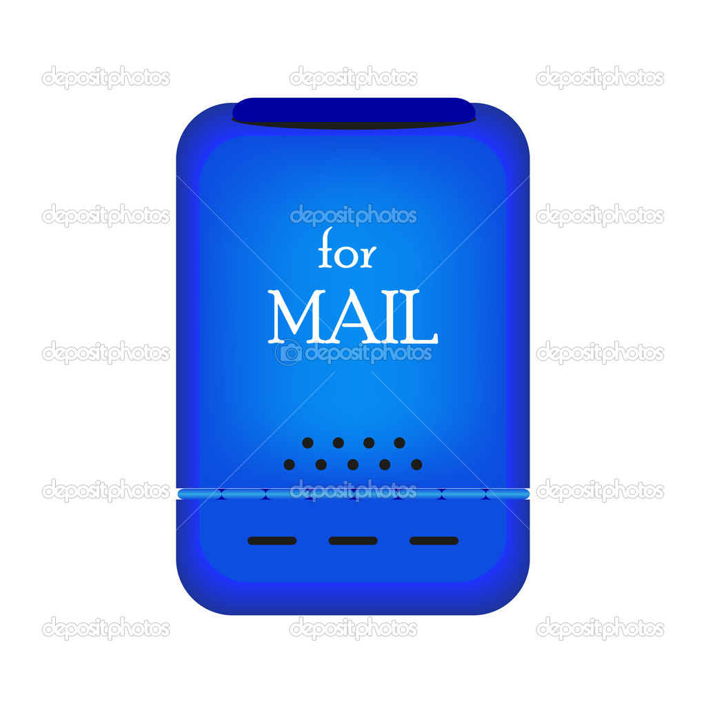 Mail box isolated on white. Vector illustration — Stock Vector #8334850