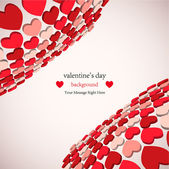 3d valentine — Stock Vector