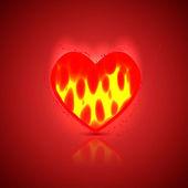 Heart background. Vector illustration. Best choice — Stock Vector